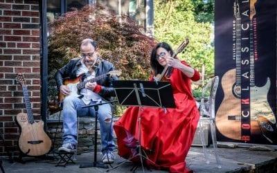 Guitar Concert with Aperitivo at the Executive Director's backyard